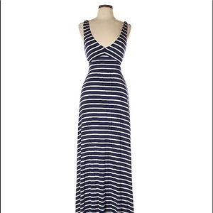 Rachel Pally Navy and white stripe maxi dress
